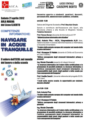 INCONTRO nAVIGARE IN ACQUE TRANQUILLE